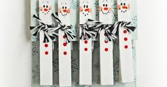 Turn ordinary clothespins into snowmen and use them to clip a treat bag or attach a card to a gift basket!     Crafted by Melody.    Supplie...