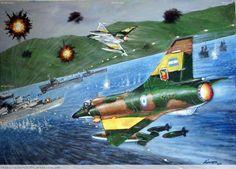 La Pintura y la Guerra Falklands War Military Jets, Military Aircraft, War Jet, Russian Submarine, Falklands War, Airplane Art, Historical Art, Aviation Art, Warfare