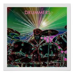 Starburst Drum Rocker Poster