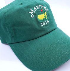 d59732075ab 2010 MASTERS Hat Cap Augusta National Golf Green Mickelson Wins Strapback  Cotton  AmericanNeedle  BaseballCap · Tiger WoodsMastersCaps ...