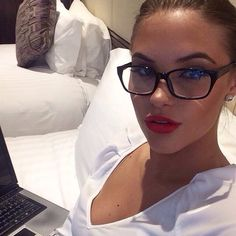 Glasses, Red Lips