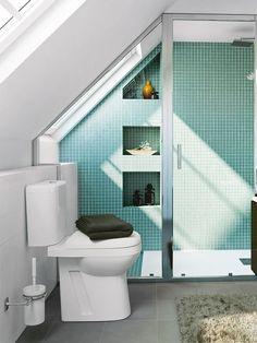 un baño mini Ideas para decorar un baño miniIdeas para decorar un baño mini Ideas Baños, Ideas Para, Loft Ideas, Nice Ideas, Loft Bathroom, Kitchen Flooring, Amazing Bathrooms, Small Spaces, Toilet