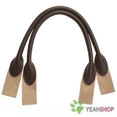 Imitation Leather Bag Handles  Coffee Leather Khaki by yeahshop, $9.50