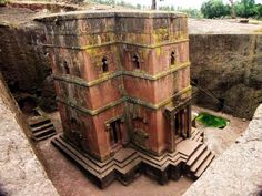 As Ethiopians are present throughout Biblical history, here Lalibela architecture represents Christianity more than 800 years ago. This temple was hewn out of pure stone and built downwards.