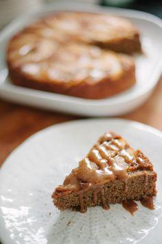 Caramelized Apple Upside Down Cake - Paleo Friendly!