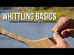Great informational and instructive short video for beginners on Whittling Basics - D-I-Why Not?