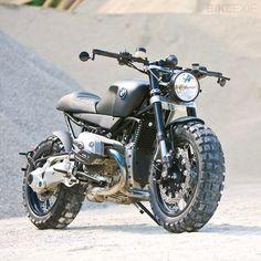 Custom BMW Scrambler Cafe by Lazareth Auto Moto Bmw Scrambler, Motos Bmw, Scrambler Custom, Bmw Motorbikes, Ducati Scrambler, Harley Davidson Sportster, Bmw R1200r, R80, Bmw Cafe Racer