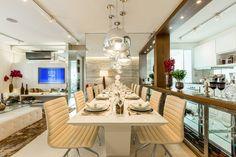 CYRELA_Varanda Tatuapé 102m²: Salas de jantar Clássico por Chris Silveira & Arquitetos Associados