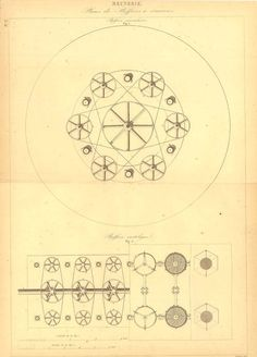 1847 Technical Drawing Mechanical Drafting by CarambasVintage, $22.00