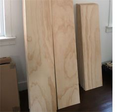 Pick now you want to lay the plywood, I like the idea of long wide planks. Home-Dzine - Plywood floors Wood Plank Flooring, Plywood Floors, Diy Flooring, Flooring Options, Planks, Flooring Ideas, Attic Remodel, Floor Colors, Painted Floors
