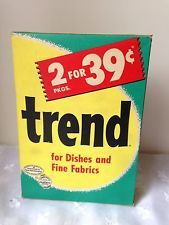 VINTAGE BOX OF TREND LAUNDRY SOAP DETERGENT FOR DISHES & FINE FABRICS
