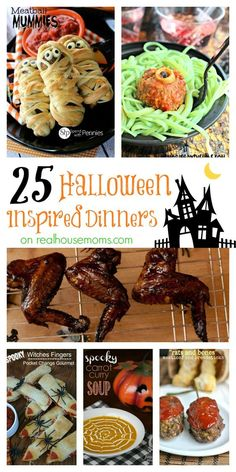 25 halloween inspired dinners - Halloween Buffet Food Ideas