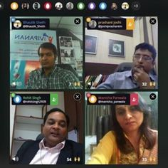And history created!!! 3 m most experienced management faculties from 3 Universities of #Surat came online for panel discussion on use of #technology. Enjoyed hosting the show! #blab #digitalmarketing #SocialMedia #education