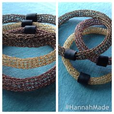 Crocheted bangles with leather over the seams Bangles, Crochet, Leather, Fashion, Tutorials, Bracelets, Moda, Fashion Styles, Ganchillo