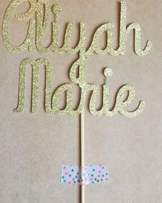 Personalized Name Cake Topper Glitter Cake by TheLittlePopShop