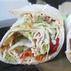 """Spicy Chipotle Turkey Wraps 