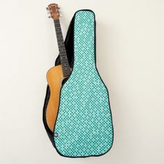 Diamonds  Arcadia Teal Guitar Case - pattern sample design template diy cyo customize