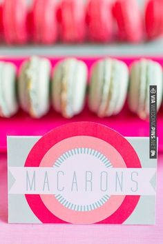 pink and mint dessert labels by Paperknots | CHECK OUT MORE IDEAS AT WEDDINGPINS.NET | #weddingcakes