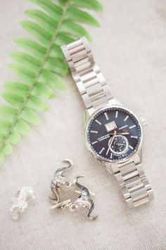 A timeless watch is the perfect gift for your groom: Photography : Hunter Ryan Photo Read More on SMP: http://www.stylemepretty.com/2016/08/29/best-bride-groom-wedding-day-gift/