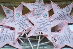 Princess Birthday Glitter trimmed Wand  Invitation by palmbeachpolkadots on Etsy, $2.75