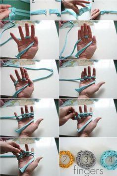 DIY Jersey Knit T-Shirt Bracelet