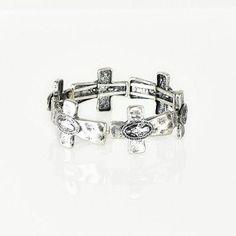 Sideway Cross Bracelet, Silver
