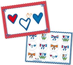 Studio Holland Harten 2-set #Valentine #Valentijn #hartjes #liefs #stickers #Nederland