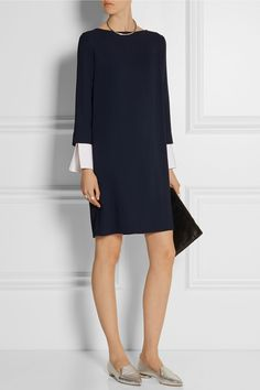 The Row | Audette stretch-cady dress | NET-A-PORTER.COM