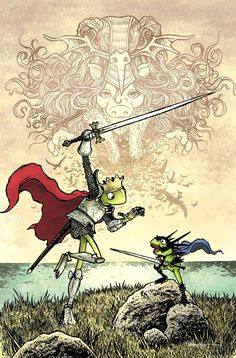 Muppets version of King Arthur, by David Petersen (creator of Mouse Guard)