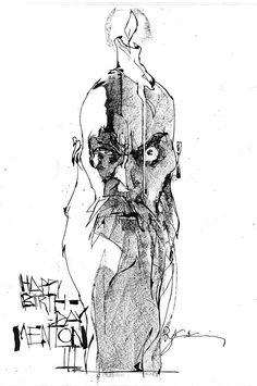 Menton J. Mathews III by Bill Sienkiewicz *