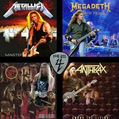✊💀✊ The Big 4 - I love all four, but PANTERA was fuckin robbed!! Metallica Megadeth Slayer Anthrax