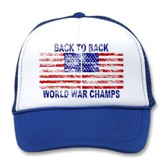 Faded Back To Back World War Champs Mesh Trucker Hat!  $14.95