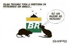 Dilma acerta saída de Graça e toda a diretoria da Petrobrás. Só vai mudar as MOSCAS!