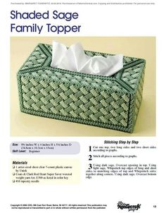 Tissue box covers-Shaded Sage