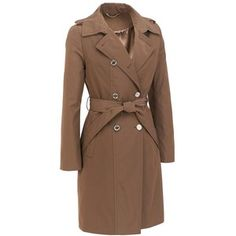Double Breasted 3/4 Length Belted Trench