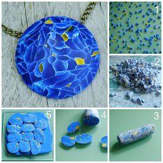 craftliners: Een blauwe steenA blue stone polymer clay tutorial