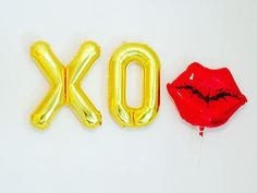 GOLD XO Balloon Xo Balloon 16 Inch XO Balloon Xo by girlygifts07