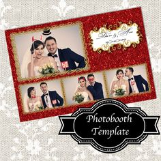 Red and Gold Glitter photos) Template Photobooth Layout, Photobooth Template, Photo Booth Business, 4x6 Postcard, Birthday Photo Booths, Under The Ocean, Ocean Party, Photo Booth Frame, Aqua Color
