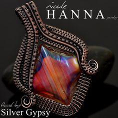 Art Glass Copper Pendant from Nicole Hanna Jewelry