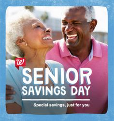 Walgreens Senior Savings Day is TODAY 1/6 - Save 20%! - http://www.couponaholic.net/2015/01/walgreens-senior-savings-day-is-today-16-save-20/