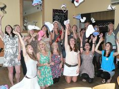 Knicker Making Party at your home or venue around London.  Fabulous Sophisticated Hen Party idea.