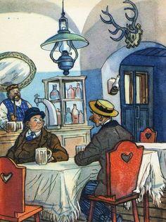 "Ill.I.Semenova to the ""Adventures of the Good Soldier Schweik"" (""Sov.hudozhnik"", 1975) Cards."
