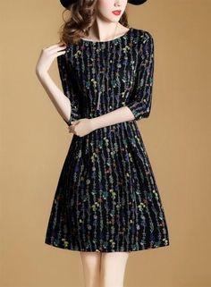 #AdoreWe #Oasap.com - #Roawe Women's Fashion Floral A-line Midi Dress - AdoreWe.com
