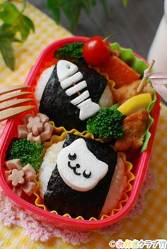 Character lunch | | OCN lunch club recipe Deco lunch fish's perfectly die-cut arrangement ♪ cat Show how to make!