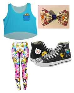 """Adventure time"" by smilelykristenjoy on Polyvore featuring Converse"