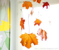 Falling Leaves tutorial - how to make a fall hanging with beeswax