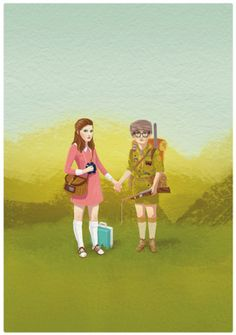 Home: Eleven Prints That Belong On Your Wall  (via Moonrise Kingdom Art Print by Roland The Illustrator   Society6)