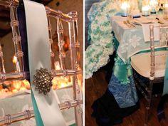 Ombre tablescape featured on Every Last Detail.  Photo by Arte de vie {artedevie.com}