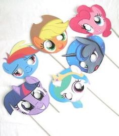 Lot of 6 My Little Pony Friendship Party Costume Face Masks Birthday Favors MLP | eBay