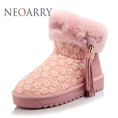 NEOARRY Snow Boots 2017 winter Brand Woman Shoes Genuine leather Boots Warm Wool Ankle Boots High Quality Fansion Shoes CC13 #Affiliate